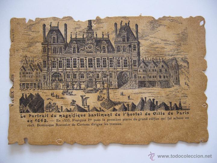 POSTAL. FRANCIA. HOTEL DE VILLE DE PARIS. CIRCULADA EN 1908. (Postales - Postales Extranjero - Europa)