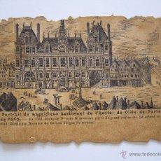 Postales: POSTAL. FRANCIA. HOTEL DE VILLE DE PARIS. CIRCULADA EN 1908. . Lote 42032118