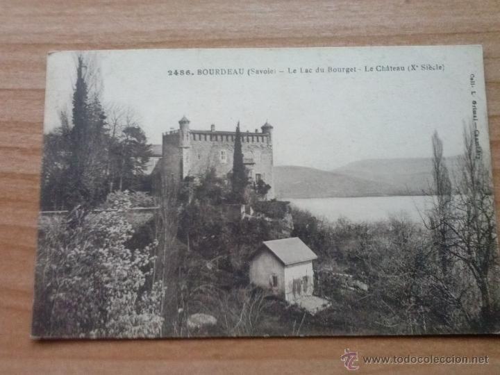 POSTAL ANTIGUA DE BORDEAUX - LAC DU BOURGET- LE CHATEAU (X SIÈCLE) EN BLANCO Y NEGRO (Postales - Postales Extranjero - Europa)