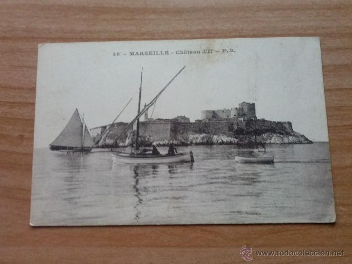 POSTAL ANTIGUA MARSEILLE- CHATEAU DE IF EN BLANCO Y NEGRO (Postales - Postales Extranjero - Europa)