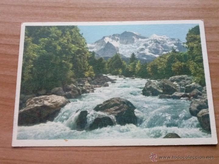 POSTAL ANTIGUA DE SUIZA WEIBE LÜTSCHINE UND JUNGFRAU (Postales - Postales Extranjero - Europa)