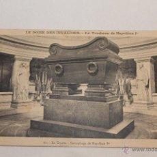 Postales: LE DOME DES INVALIDES - LE TOMBEAU DE NAPOLEÓN I - 61 LA CRYPTE - SARCOPHAGE DE NAPOLEÓN IER. Lote 42183540