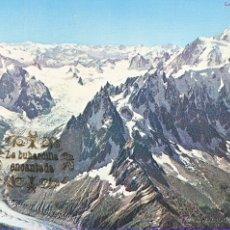 Postales: POSTAL - FRANCIA - CHAMONIX MONT BLANC L'AIGUILLE DU MIDI COLECCION - NO CIRCULADA. Lote 42185838