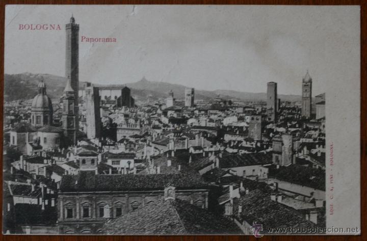 ANTIGUA TARJETA POSTAL PANORAMA DE BOLOGNA - BOLONIA - ITALIA - CON SELLO (Postales - Postales Extranjero - Europa)