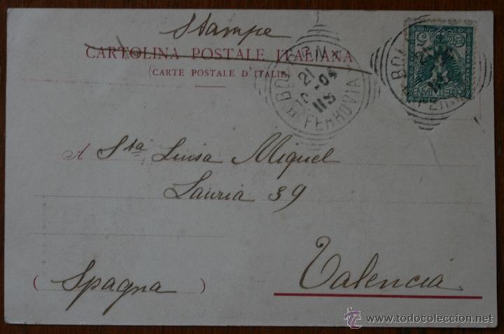 Postales: ANTIGUA TARJETA POSTAL PANORAMA DE BOLOGNA - BOLONIA - ITALIA - CON SELLO - Foto 2 - 42220397