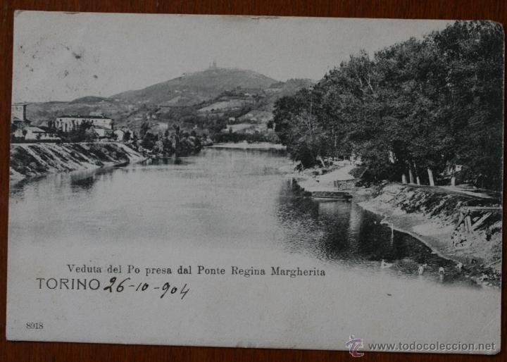 ANTIGUA TARJETA POSTAL TORINO (ITALIA) DATADA EN 1904 - CON SELLO - DIRIGIDA A VALENCIA (Postales - Postales Extranjero - Europa)