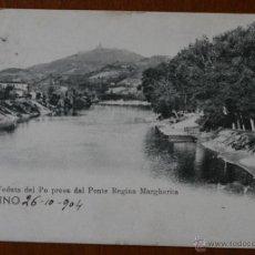 Postales: ANTIGUA TARJETA POSTAL TORINO (ITALIA) DATADA EN 1904 - CON SELLO - DIRIGIDA A VALENCIA. Lote 42234368