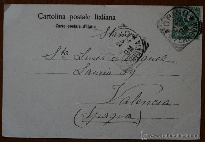Postales: ANTIGUA TARJETA POSTAL TORINO (ITALIA) DATADA EN 1904 - CON SELLO - DIRIGIDA A VALENCIA - Foto 2 - 42234368