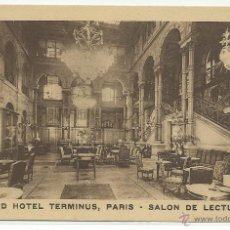 Postales: PARIS .- GRAND HOTEL TERMINUS .- SALON DE LECTURE. Lote 42337223