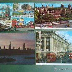 Postales: POSTAL ANTIGUA LONDRES LOTE 4 POSTALES AÑOS 60-70. Lote 42424396