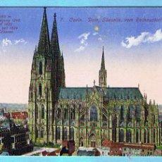 Postales: 7. COELN. DOM, SUDSEITE, VOM RATHAUSTURM GESEHEN. HWK. Lote 42480440