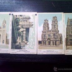 Postales: 4 POSTALES CATEDRALES DE FRANCIA EN COLOR COLECCION DE LA KOLARSINE Y SOLUCION PAUTAUBERGE. Lote 42686173