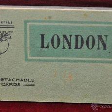 Postales: ALBUM DE POSTALES DE LONDRES. DIFERENTES VISTAS. LL SERIES. 24 TARJETAS. Lote 42886977
