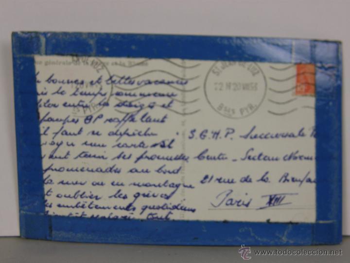 Postales: postal circulada sello matasello ST Jean de Luz 1953 París - Foto 2 - 42951485