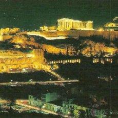 Postales: ATENAS (GRECIA), LA ACRÓPOLIS ILUMINADA - Nº 81 - CIRCULADA. Lote 43110397