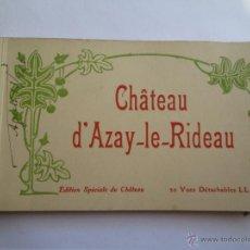 Postales: CHATEAU D`AZAY LE RIDEAU EDITION SPECIALE 20 VUES DETACHABLES. Lote 43123531