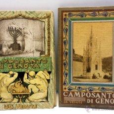 Postales: LOTE 2 ALBUM FOTOGRAFICOS ANTIGUOS DEL CAMPOSANTO DI GENOVA. CON 36 VISTAS CADA UNO.. Lote 43251238