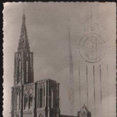Postales: STRASBOURG CATEDRAL FACHADA SUR CIRCULADA EL AÑO 1948 . Lote 43418841