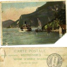 Postales: ANTIGUA POSTAL SUIZA CIRCULADA CHAUX DE FONDS 1.909. Lote 43429048