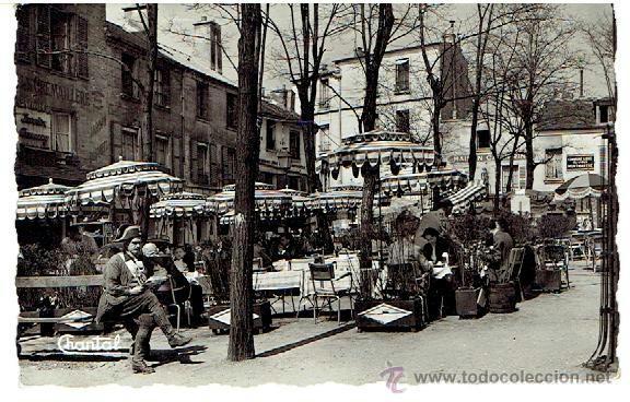 POSTAL, PARIS, LA PLACE DU TERTRE, CIRCULADA EN 1917 (Postales - Postales Extranjero - Europa)