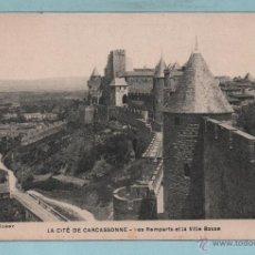 Postales: LA CITE DE CARCASSONNE VISTA DE LA VILLA SIN CIRCULAR VER FOTO . Lote 43467379