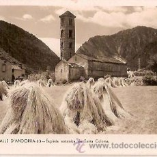 Postales: ANTIGUA POSTAL 63 VALLS ANDORRA ESGLESIA ROMANICA DE SANTA COLOMA V CLAVEROL. Lote 43521046