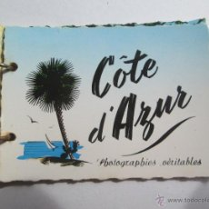 Postales: COTE D`AZUR PHOTOGRAPHIES VERITABLES SEPT RUE ALEXIS MOSSA 14 PETIT PHOTOS. Lote 43558582