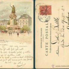 Postales: POSTAL DE PARIS 1902, PLACE DE LA LIBERTÉ. Lote 43676387