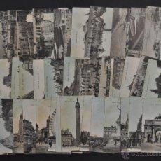 Postales: LOTE DE 39 POSTALES DE PARIS. DIFERENTES VISTAS. Lote 43800479