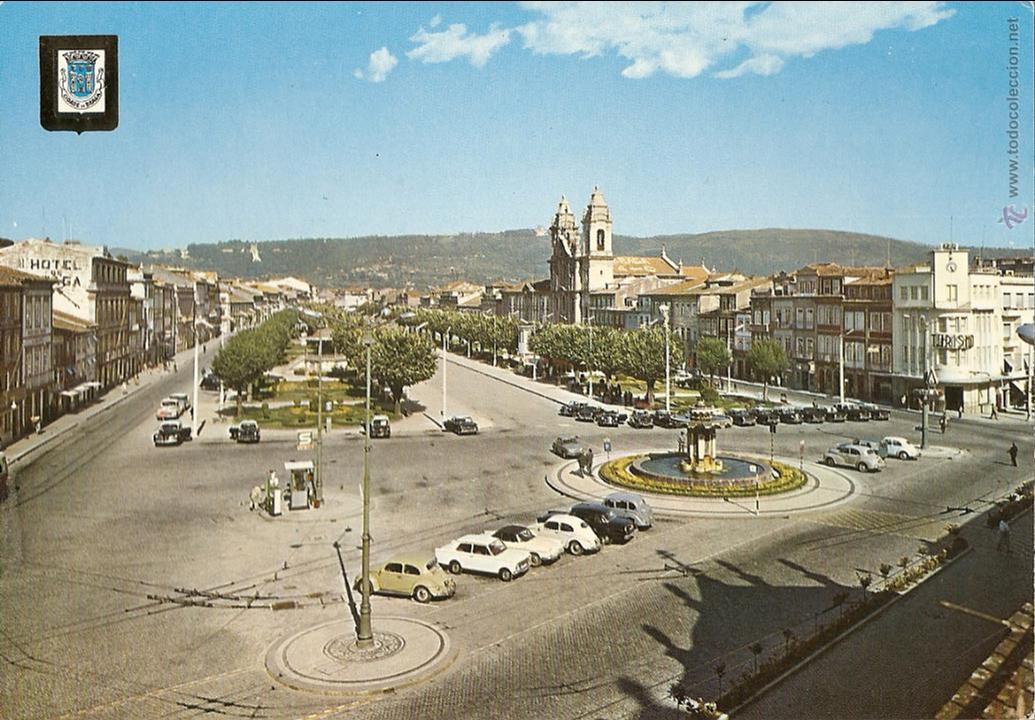 POSTAL AVENIDA CENTRAL, BRAGA, PORTUGAL, SIN CIRCULAR (Postales - Postales Extranjero - Europa)