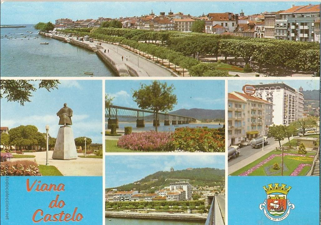 POSTAL VISTAS VIANA DO CASTELO, PORTUGAL, SIN CIRCULAR (Postales - Postales Extranjero - Europa)
