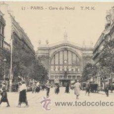 Postales: PARIS.- GARE DU NORD.. Lote 43972302
