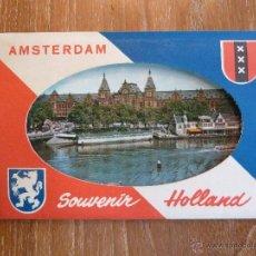 Postales: POSTALES DESPLEGABLES AMSTERDAM - SERIE DE 7 POSTALES - GEDRUKT IN NEDERLAND. Lote 44033028