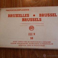 Postales: 10 POSTALES DESPLEGABLES DE AMSTERDAM 1958 COLOREADAS - PHOTOCOLORPLASTIFIX. Lote 44033254
