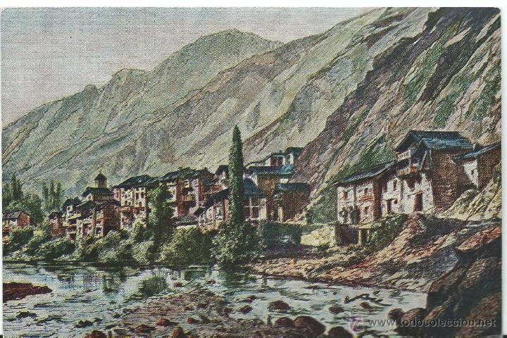 POSTAL DE VALLS D'ANDORRA HISTORICA Nº V II DE 1966 SIN CIRCULAR (Postales - Postales Extranjero - Europa)