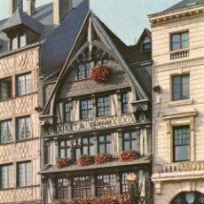 Postales: FRANCIA NORMANDIA HOTEL DE LA COURONNE MUSEO JUANA DE ARCO. Lote 4758553