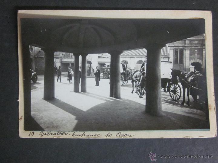 GIBRALTAR - POSTAL PROTOTIPO - FOTO PEGADA -VER FOTO ADICIONAL- FOTOGRAFICA ROISIN - (23810) (Postales - Postales Extranjero - Europa)