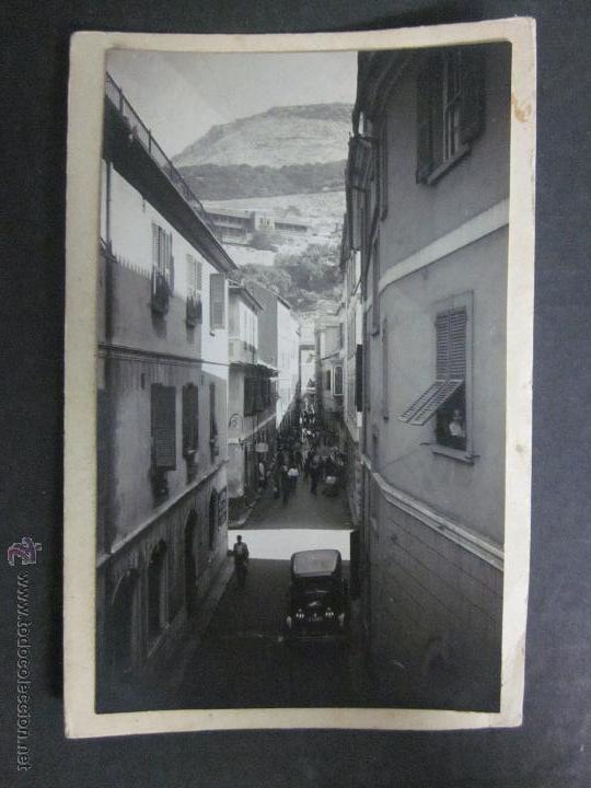 GIBRALTAR - POSTAL PROTOTIPO - FOTO PEGADA -VER FOTO ADICIONAL- FOTOGRAFICA ROISIN - (23819) (Postales - Postales Extranjero - Europa)