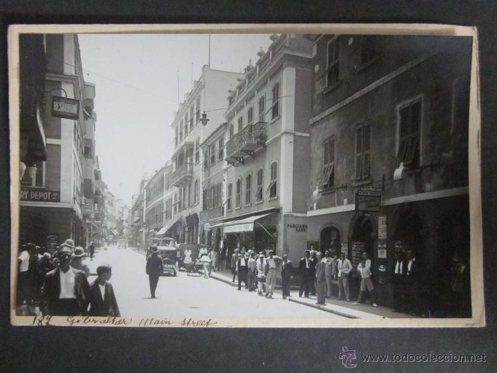 GIBRALTAR - POSTAL PROTOTIPO - FOTO PEGADA -VER FOTO ADICIONAL- FOTOGRAFICA ROISIN - (23827) (Postales - Postales Extranjero - Europa)