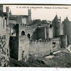 Postales: CARCASSONNE DÉFENSES DE LA PORTE D'AUDE (EDIT. N. G.) ANTIGUA SIN ESCRIBIR. Lote 44176969