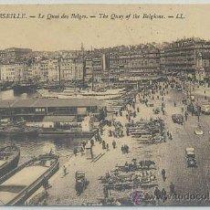 Postales: POSTAL DE FRANCIA. MARSEILLE. LE QUAI DES BELGES Nº 343 P-EUR-118. Lote 44462884