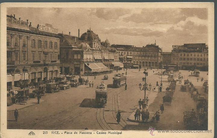POSTAL DE FRANCIA -NICE PLACE MASSENA - CASINO MUNICIPAL SIN CIRCULAR AÑOS 30 FOTO STRASBOURG (Postales - Postales Extranjero - Europa)