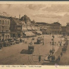 Postales: POSTAL DE FRANCIA -NICE PLACE MASSENA - CASINO MUNICIPAL SIN CIRCULAR AÑOS 30 FOTO STRASBOURG. Lote 44660660
