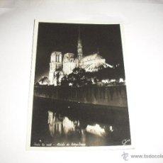 Cartoline: PARIS LA NUIT . ABSIDE DE NOTRE- DAME. Lote 44663031