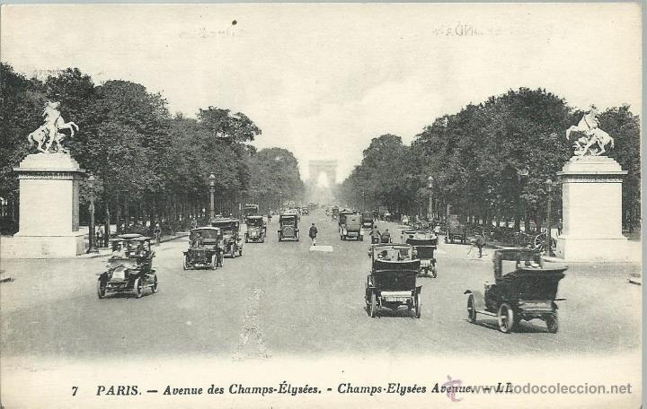 POSTAL DE PARIS Nº 7 VISTA AVD.CAMPOS ELYSEES Y ARCO DEL TRIUNFO - SIN CIRCULAR AÑOS 30 (Postales - Postales Extranjero - Europa)