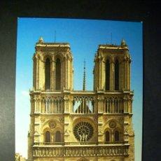 Postales: 7427 FRANCE ISLA DE FRANCIA PARIS NOTRE DAME FACHADA POSTCARD POSTAL AÑOS 60/70 - TENGO MAS POSTALES. Lote 44684099