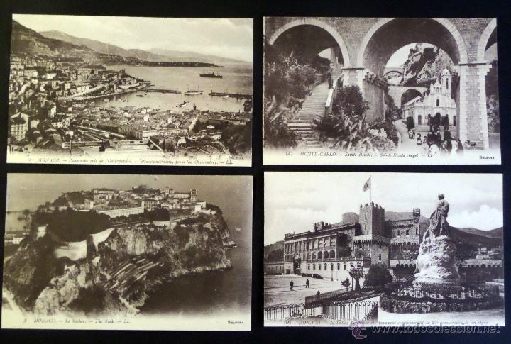 Postales: Colección de 16 postales de Mónaco de principios del siglo pasado. Ver descripción y fotografías - Foto 3 - 45099395