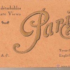Postales: SOUVENIR DE PARIS 20 VUES COLORIEES DETACHABLES. Lote 45222336