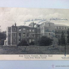 Postales: ANTIGUA POSTAL - HOLY TRINITY CONVENT, BROMLEY, KENT VIEW FROM TENNIS LAWN - CIRCULADA - ESCRITA -. Lote 45332569