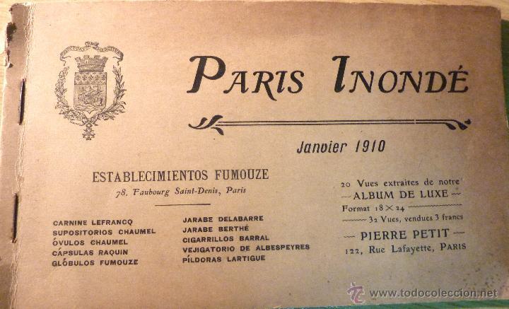 LIBRITO ALBUM 20 FOTOS FOTO PARIS INUNDACIONES 1910 PARIS INONDE 18 / 24 (Postales - Postales Extranjero - Europa)